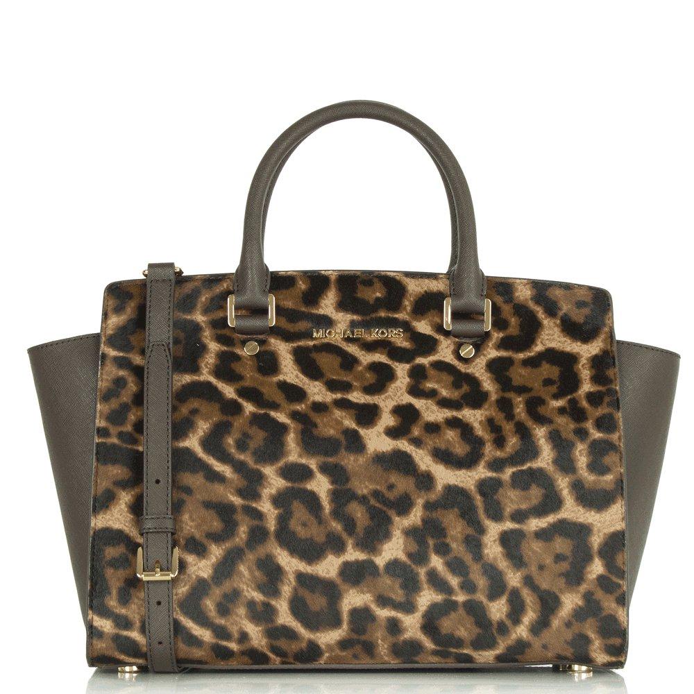 michael kors selma large calf hair satchel. Black Bedroom Furniture Sets. Home Design Ideas