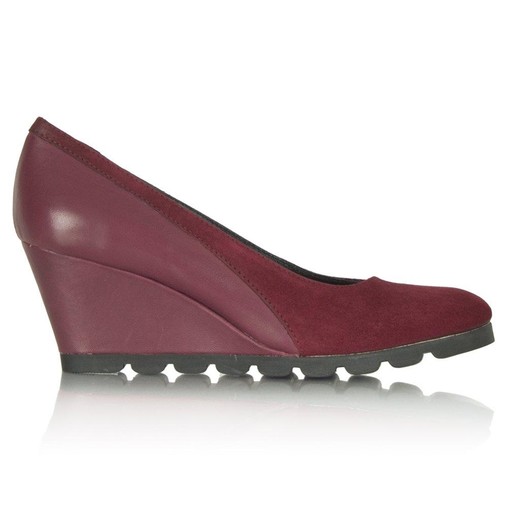 daniel burgundy vasia women s wedge shoe