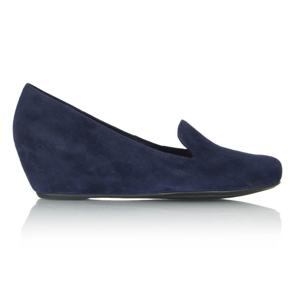 hogl navy golightly wedge loafer