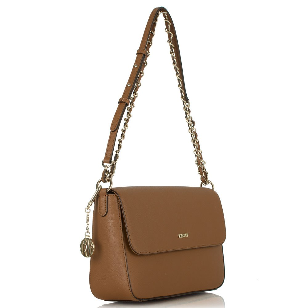 dkny brown leather sakwatamau crossbody bag