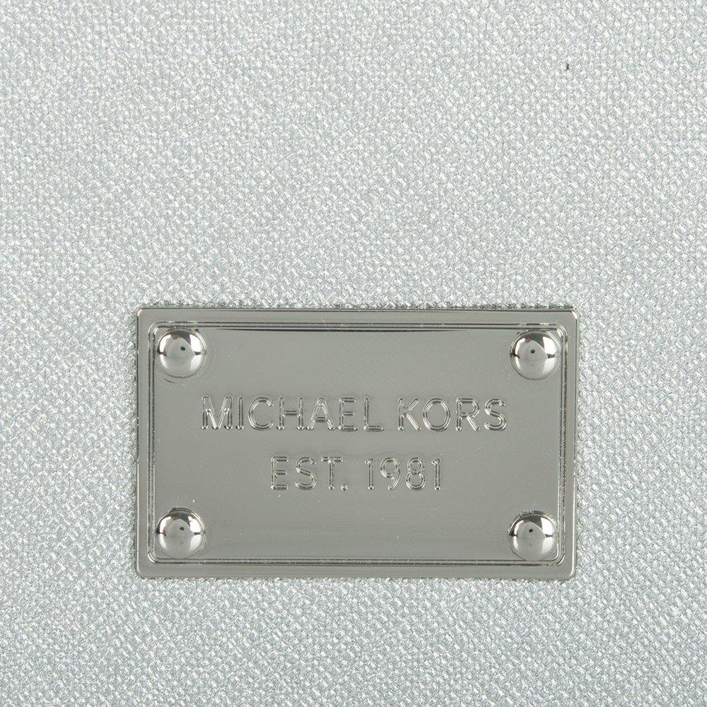 michael kors michael kors silver saffiano leather iphone 6 case. Black Bedroom Furniture Sets. Home Design Ideas