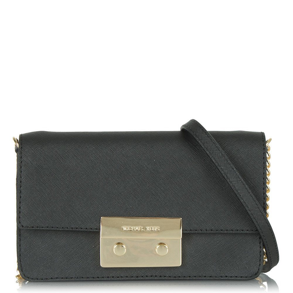 9bade8b47 Black Leather Crossbody Bag With Chain Strap | Stanford Center for ...