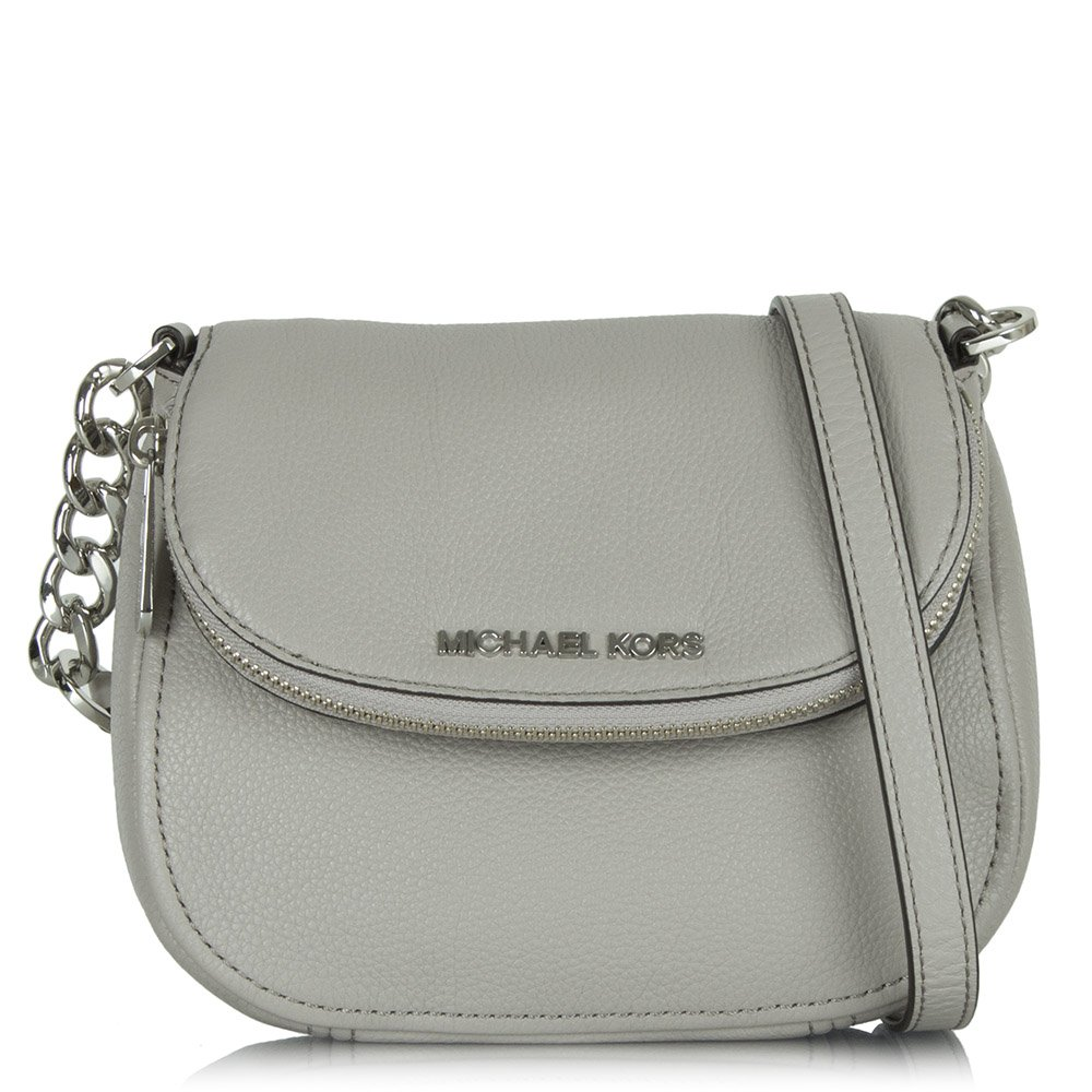 3e20355c99a2 Bag VERSACE Silver In Leather Leather Handbags Silver: Michael Kors Silver  Leather Bedford Flap Crossbody Bag