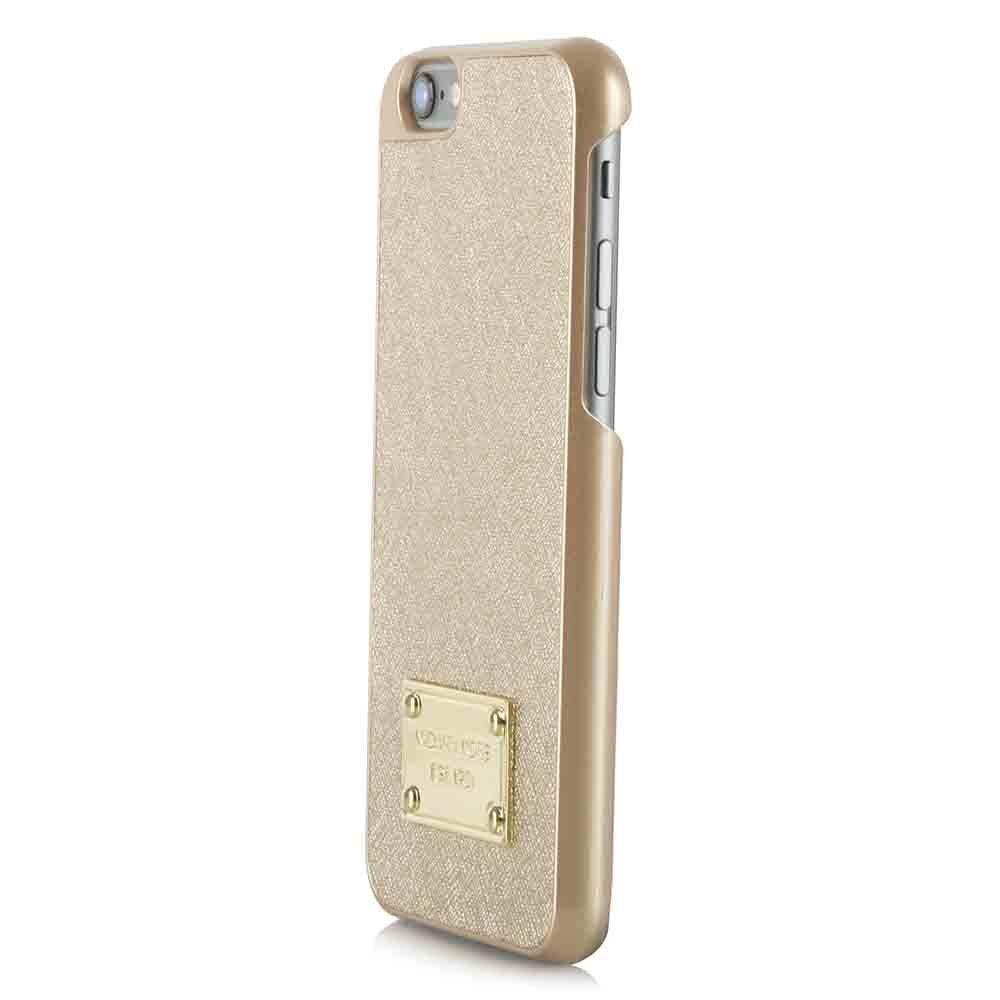 michael kors michael kors gold saffiano leather iphone 6 case. Black Bedroom Furniture Sets. Home Design Ideas