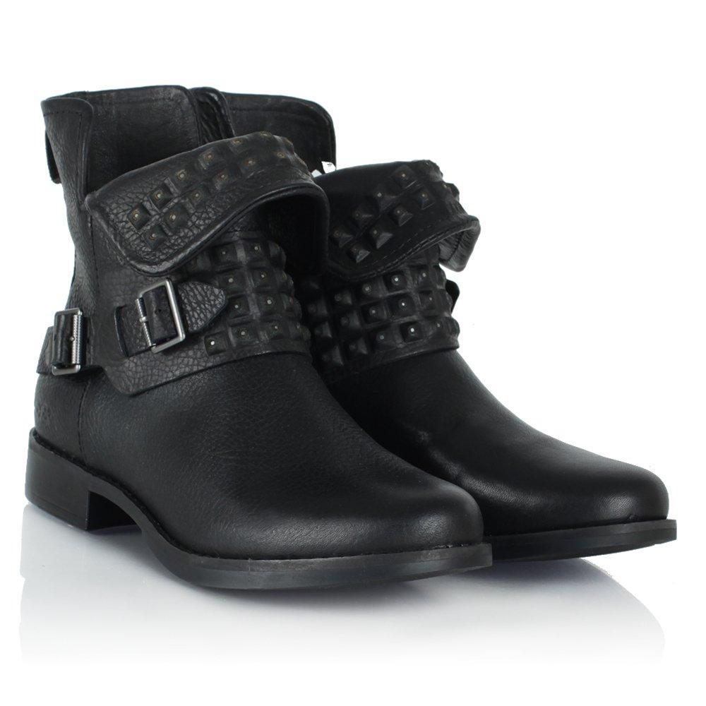 870deeb486c Ugg Australia Studded Leather Ankle Boots