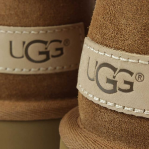 Brown UGG Logo on Boots
