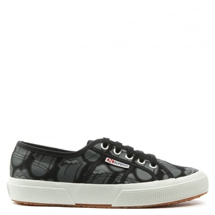 2750 Black Rolling Stones Lace Up Trainer
