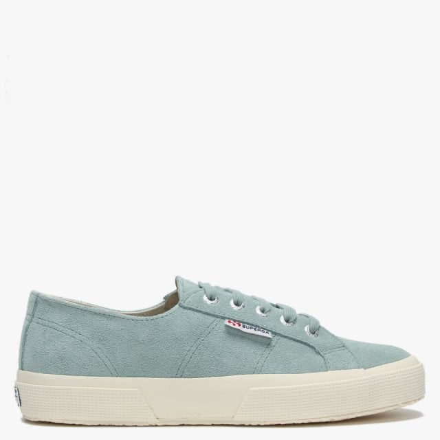 e988a7c70f658 2750 Sueu Green Light Sage Suede Lace Up Trainers