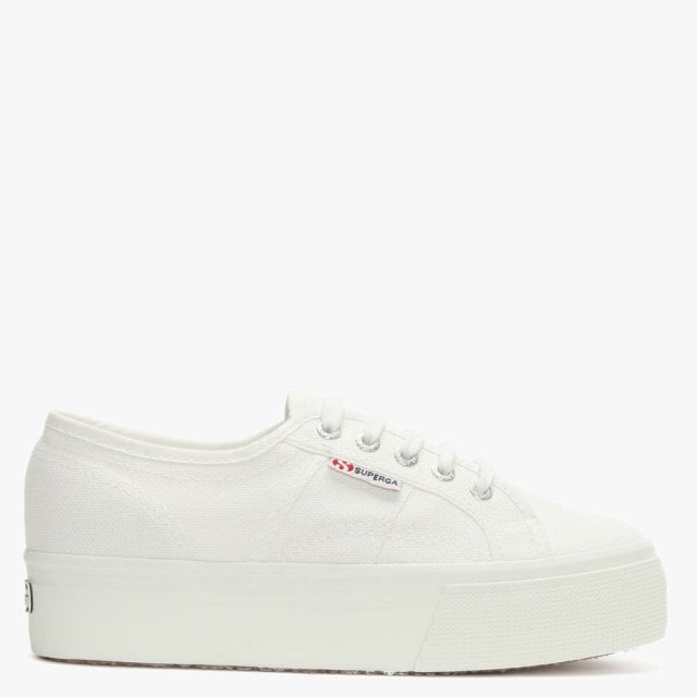 f47ee9ee925c Superga 2790 Acotw White Canvas Linea Up Down Flatform Trainers