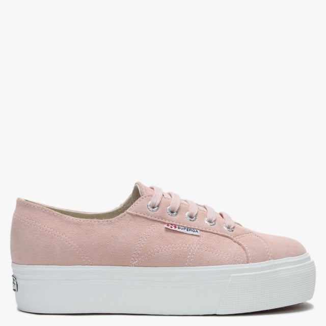 c871f73b4c515 Superga 2790 Pink Suede Flatform Trainers
