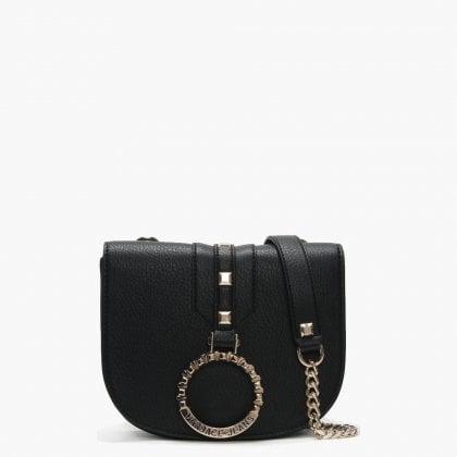 48d5b14e62 Versace Jeans Abakan Black Circular Logo Two Way Bag