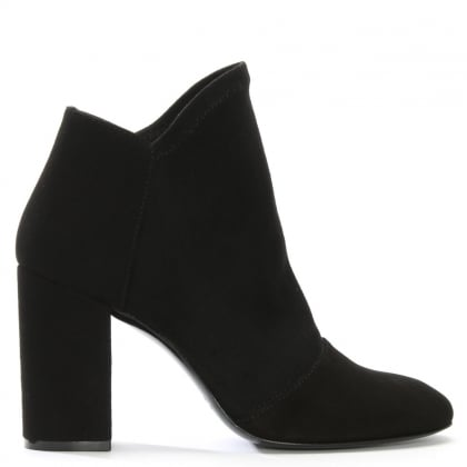 Abeel Black Suede Elasticated Top Line Ankle Boots