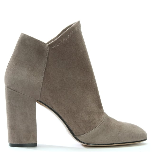 Abeel Taupe Suede Elasticated Top Line Ankle Boots