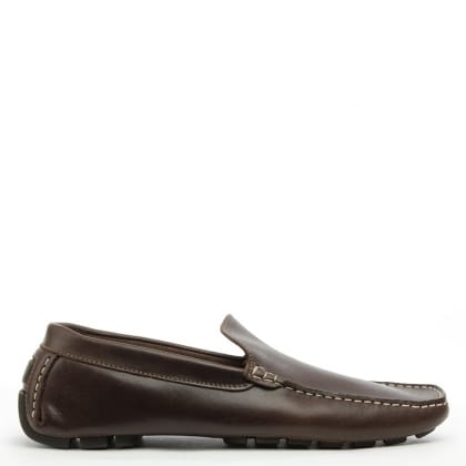 Ablet Brown Leather Driving Shoe