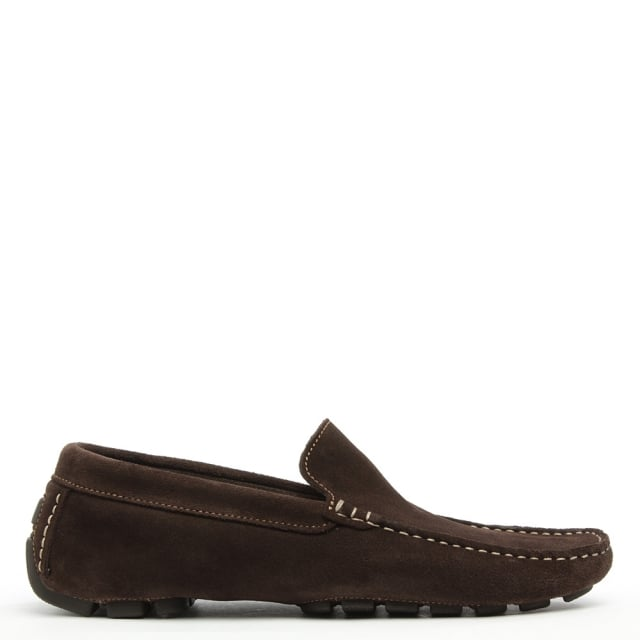 Ablet Brown Suede Driving Shoe