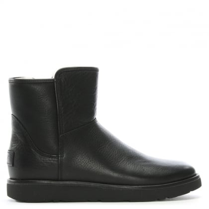 Abree Mini Nero Leather Ankle Boots