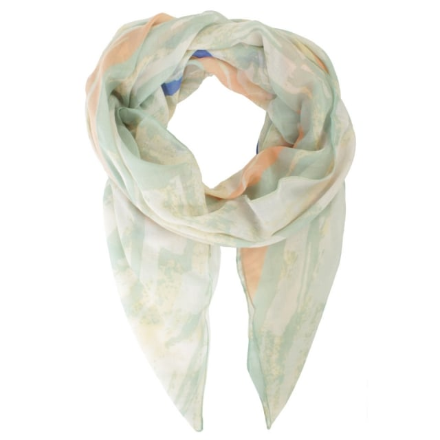 Abstract Paint Green Scarf