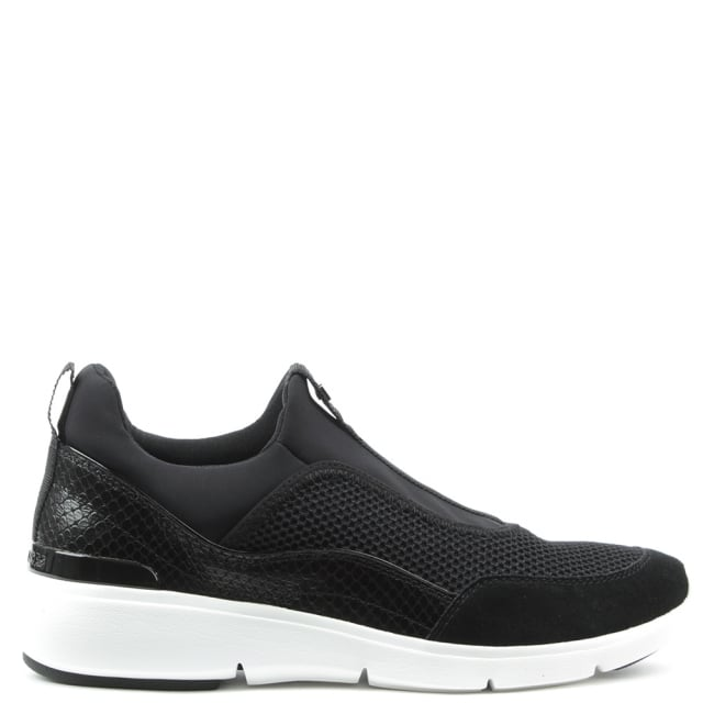 Ace Black Scuba Slip On Trainer