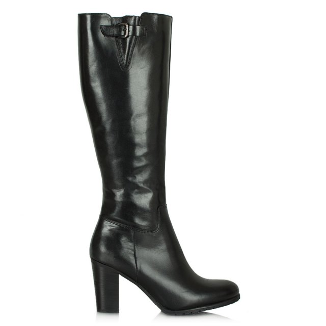 Acimal 100 Black Leather Knee Boot