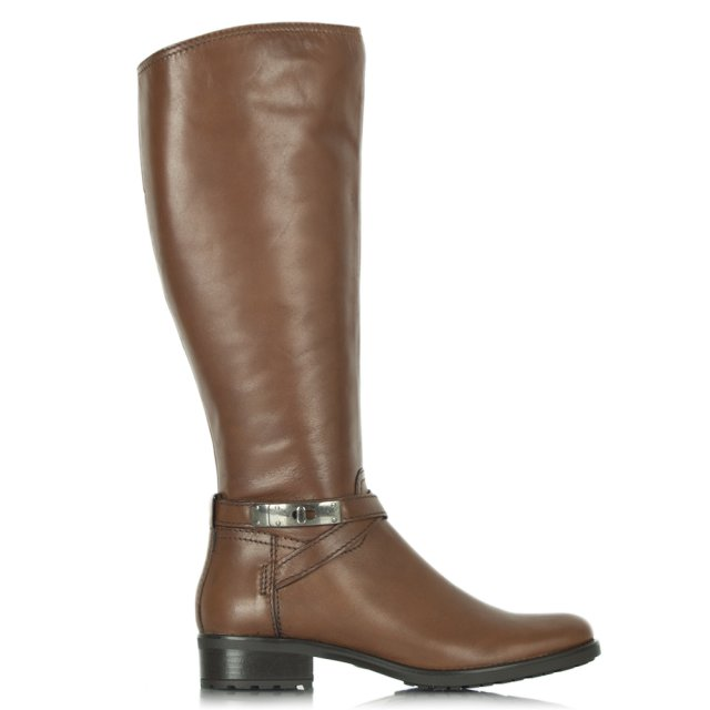 Acimal 34 Tan Leather Riding Boot