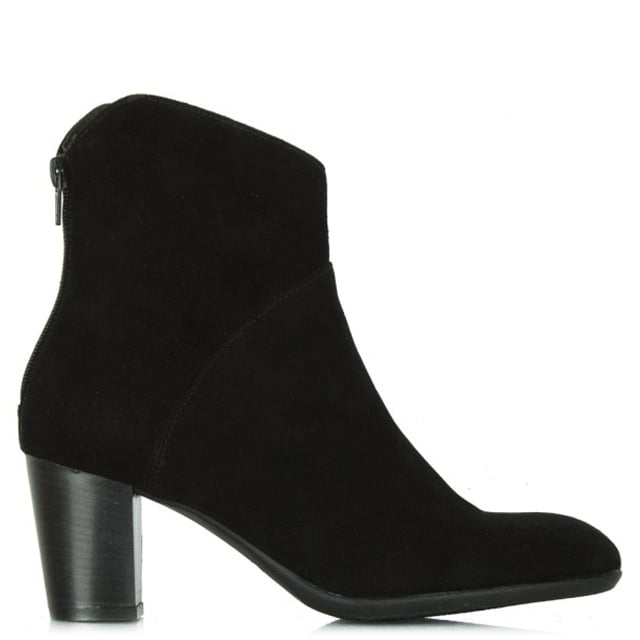 Acimal 39 Black Suede Ankle Boot