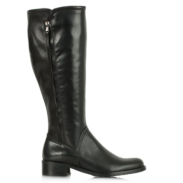 Acimal 48 Black Leather Low Riding Boot
