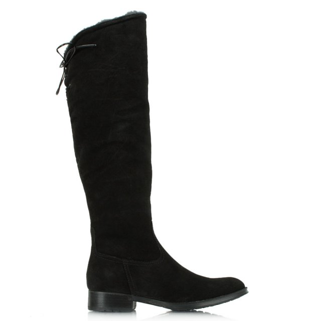 Acimal 50 Black Suede Knee High Boot