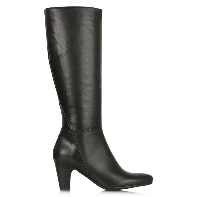 Acimal 62 Black Leather Knee High Boot