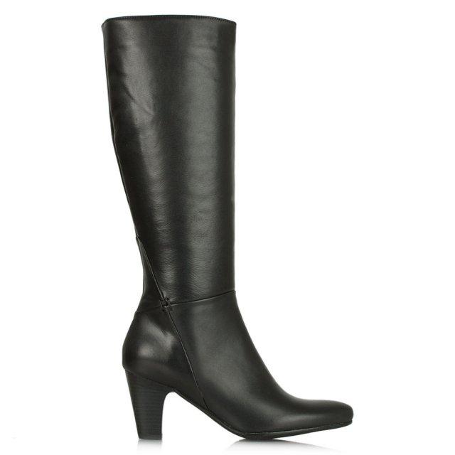 Acimal 62 Black Leather Knee High Boot