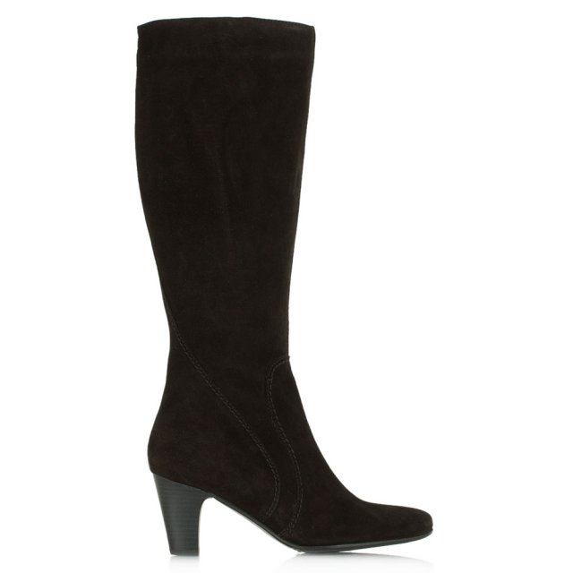 Acimal 64 Black Suede Knee High Boot