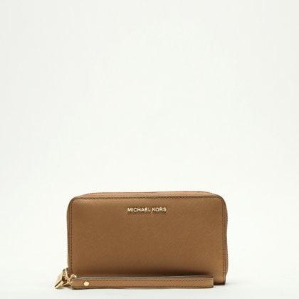 Michael Kors Acorn Leather Wristlet Smartphone Case Wallet 8bab13801e