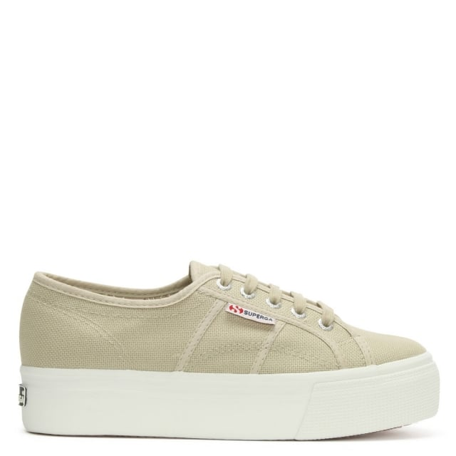 Acota Taupe Linea Up Down Flatform Trainer