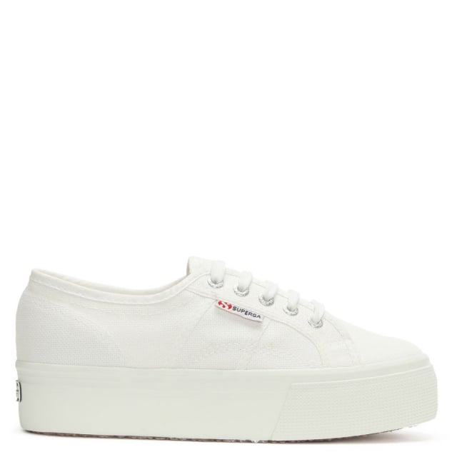 Acota White Linea Up Down Flatform Trainer