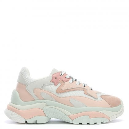 Addict Pink Leather & Mesh Chunky Trainers