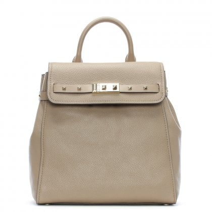 Addison Truffle Pebbled Leather Backpack