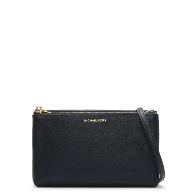 Adele Gusset Admiral Leather Cross-Body Bag