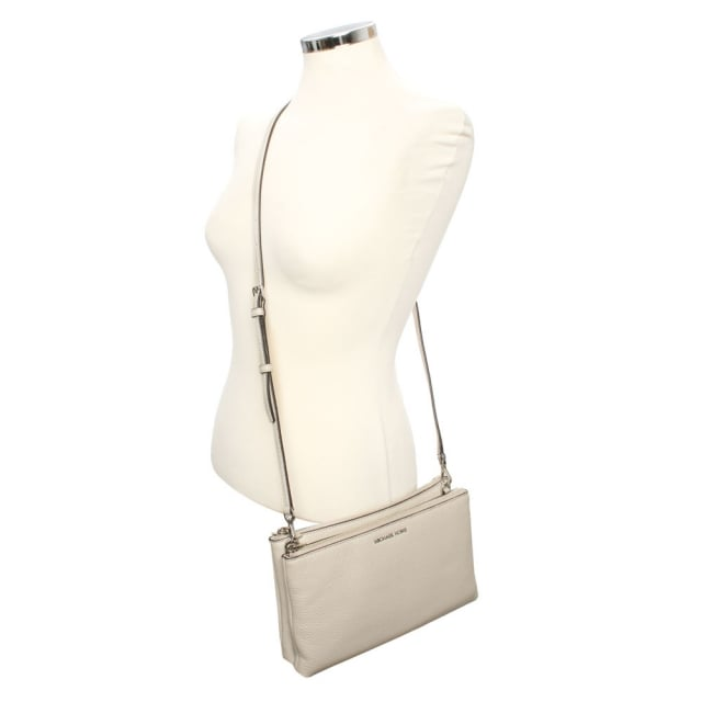 b67c962f909b Michael Kors Adele Gusset Cement Leather Cross-Body Bag