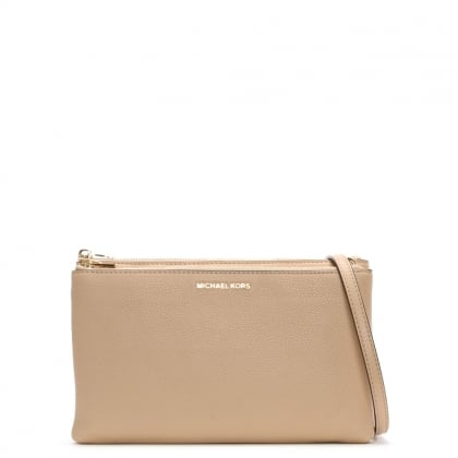 Adele Gusset Oyster Leather Cross-Body Bag