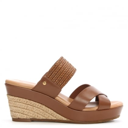 Adriana Tamarina Leather Wedge Mule