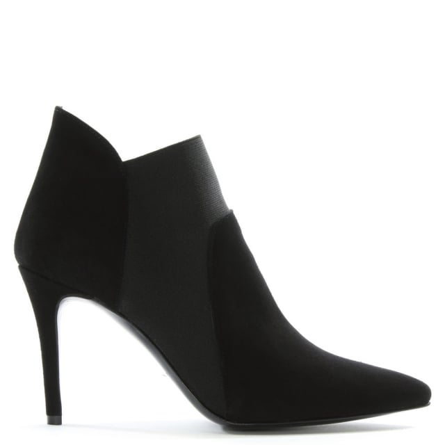 Afede Black Suede Pointed Toe Chelsea Boots