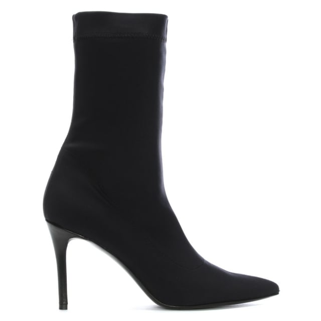 Afemini Black Stretch Sock Ankle Boots