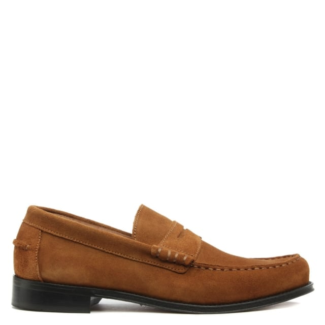 Aiton Tan Suede Penny Loafer