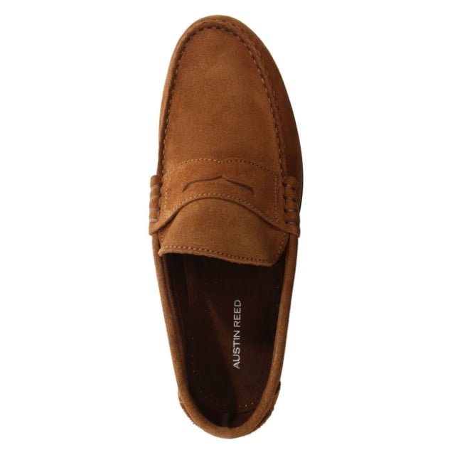 Austin Reed Aiton Tan Suede Penny Loafer