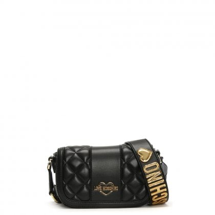 Akita Small Black Quilted Cross-Body Bag