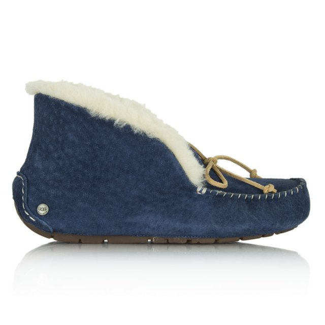 Alena Navy Suede Wome's Slipper