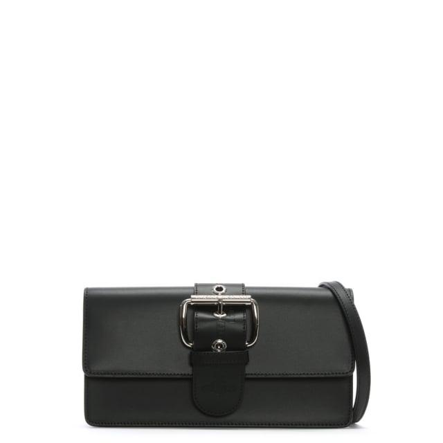 Vivienne Westwood Alex II Black Leather Belted Clutch Bag