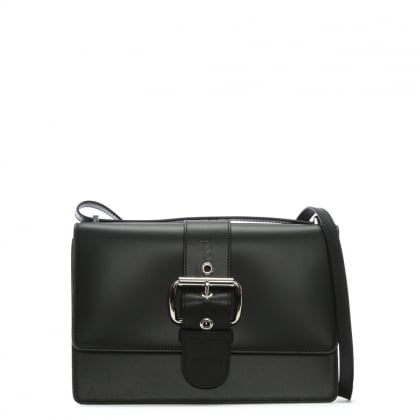 Alex II Black Leather Belted Cross-Body Bag
