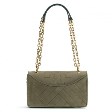 Alexa Banana Leaf Suede Shoulder Bag