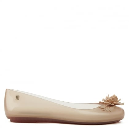 Alexandre Herchcovitch Nude Space Love Flower Ballet Flat