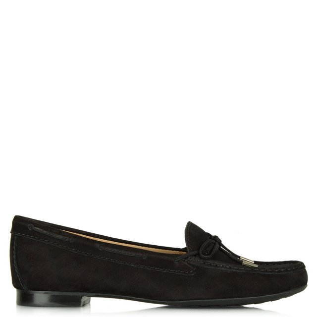 Alexandria Black Suede Driving Loafer